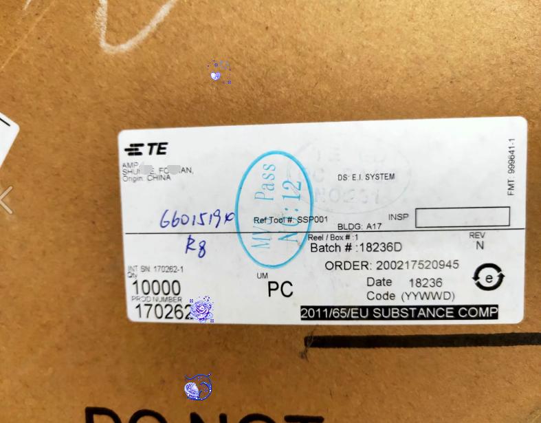 Amp / Te Connector 170262-1 terminal, wire diameter 20-26AWG original stock